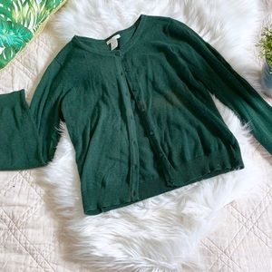 H&M Green Cardigan | Size Small
